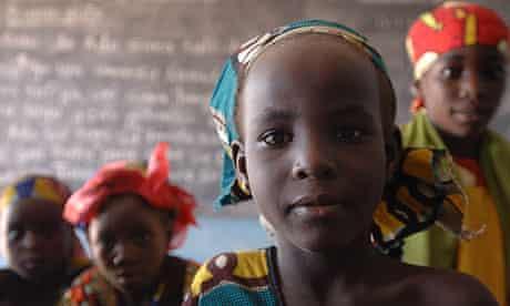 Nigerian girls at a school in Sokoto state.