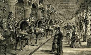 The Line of Kings display at the Tower of London in 1878