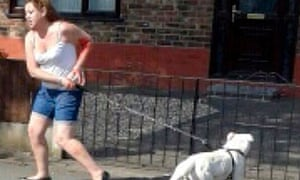 A picture on Twitter of the woman whose dog allegedly bit the head off Gemma Antell's pomeranian