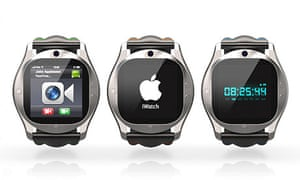 A designer's idea of what an iWatch might look like.