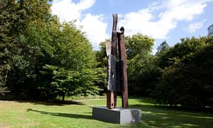 Miya Ando's sculpture After 9/11 when it was unveiled in London's Battersea Park in 2011.