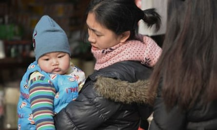 A mother and baby in Shanghai.