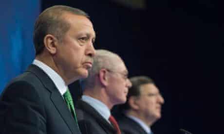 Turkish PM Recep Tayyip Erdoğan, Herman Van Rompuy, European Council president, José Manuel Barroso