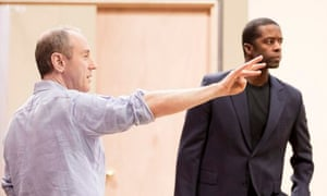 Nicholas Hytner, left, in rehearsal with Adrian Lester in the NT's Othello.