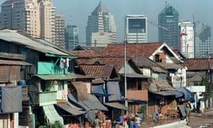 Jakarta offices slums