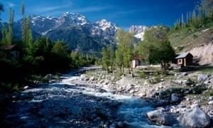 Babash-Ata mountains at the Krygyz village of Arslanbob