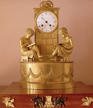 St Petersburg Museum: Ornamental Clock in Pushkin's House