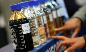 Bottles of oil in Tehran