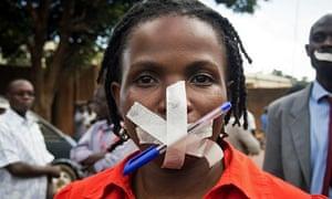 Uganda newspaper protest