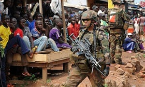 Bangui French soldiers