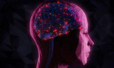 Bright lights inside woman's head