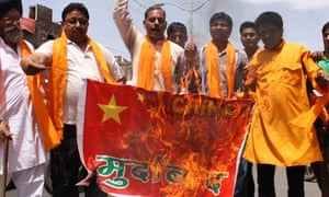 indians protest border dispute