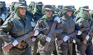 Women soldiers from the Pro-independence