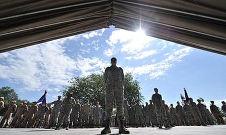 US servicemen at Manas