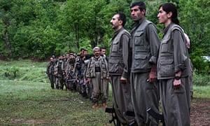 PKK Kurdish fighters