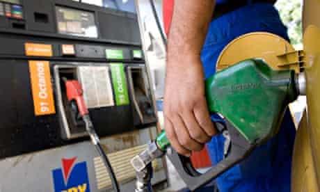 A petrol station in Caracas, Venezuela