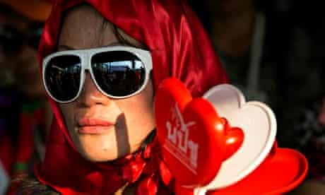 Thailand redshirt supporter
