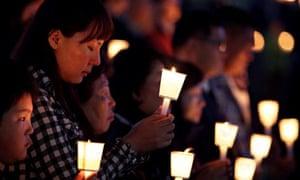South Korea families mourn loss