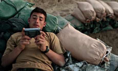 Afghanistan soldier radio