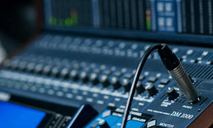 podcast in Guardian audio studio