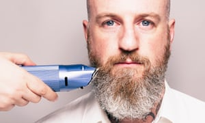 Bearded Man Hair Clippers Portrait