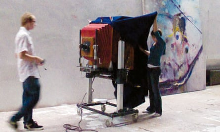 Julian Schnabel's hand-made Polaroid camera