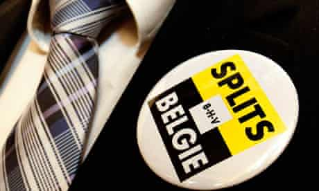 Badge for the Belgian Flemish party, Belang