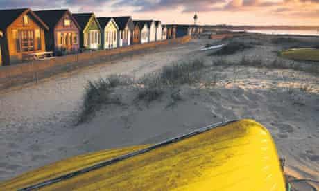 Beach front huts at Mudeford in Dorset