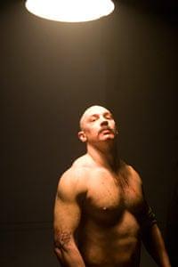 Tom Hardy as prisoner Charles Bronson
