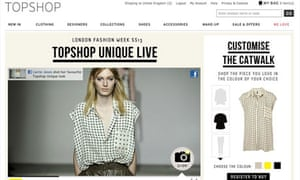 Topshop social network fashion experience