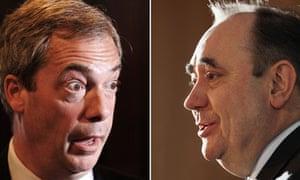 Alex Salmond and Nigel Farage
