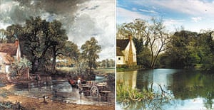 Constable's Haywain and Willy Lott's house on river Stour now