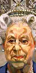 Lucian Freud's portrait of the Queen (detail)