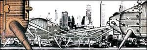 Ron Herron's Walking City. Photo: Archigram Archives