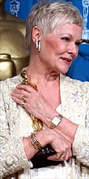 Dame Judi Dench with her best supporting actress Oscar for Shakespeare in Love
