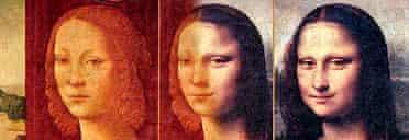 Bild Zeitung photomontage of Lorenzo di Credi's portrait of Caterina Sforza and Leonardo da Vinci's Mona Lisa