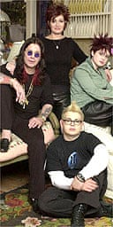 The Osbournes - Ozzy with wife Sharon, son Jack and daughter Kelly