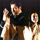 Ian Storey as Pinkerton and Natalia Dercho as Madama Butterfly in Scottish Opera's production