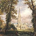 Detail from Salisbury Cathedral From The Bishop's Garden by John Constable