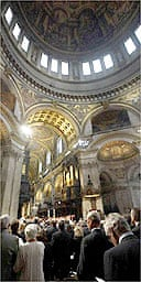 Inside St Paul's Cathedral, London