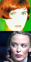 Cathy Dennis (top) and Kylie Minogue