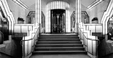 The foyer of the Strand Palace hotel
