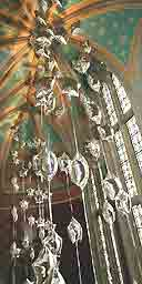 Light sculpture at St Pancras