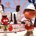 Florence and Zebedee of the Magic Roundabout