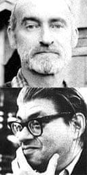 Composers Christian Wolff (top) and Morton Feldman