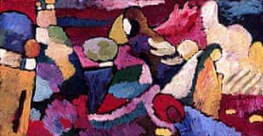 Kandinsky's Improvisation on Mahogany. Courtesy of Fridart Foundation
