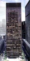 The Seagram Building in New York, designed by Mies van der Rohe