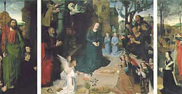 Detail from the Portinari Triptych by Hugo van der Goes