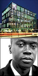 David Adjaye (bottom) and one of his designs for an 'idea store'