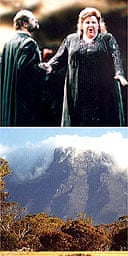 Gotterdammerung at La Scala (top) and Bluff Knoll in Western Australia